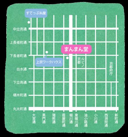 まんまん堂地図
