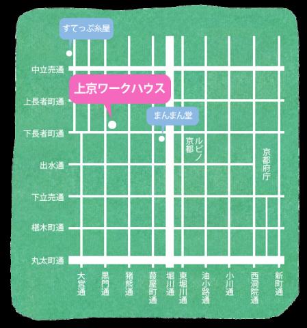 上京ワークハウス地図